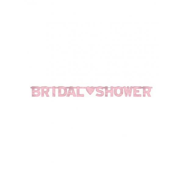 تعليقة bridel shower باللون الوردي